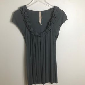 Bailey 44 Sleeveless Ruffle Top size Medium 2184